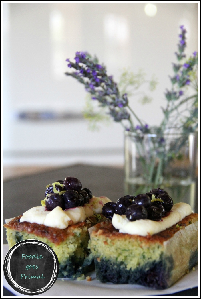 Low Carb Zucchini & Blueberry Mini Cakes
